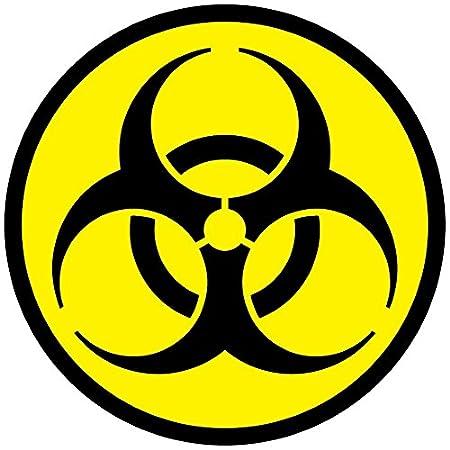 Toxic Symbol Biohazard Warning Self Adhesive Vinyl Stickers Safety