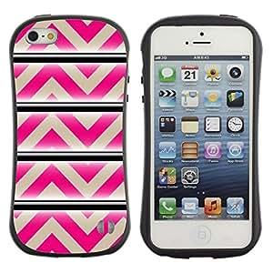 Suave TPU GEL Carcasa Funda Silicona Blando Estuche Caso de protección (para) Apple Iphone 5 / 5S / CECELL Phone case / / Pattern Pink Beige Lines Abstract /