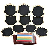 UCEC Mini Chalkboard with Wooden Blackboard Clip for Message Board Signs, 10 Piece
