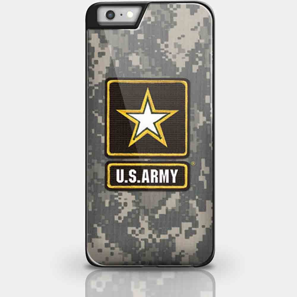 Us Army Logo Wallpaper for Iphone and Samsung Galaxy Case (iPhone 6 plus black) Wireless Phone Accessory