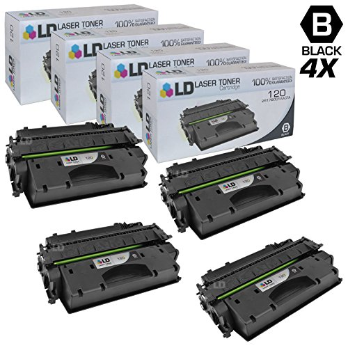 LD Compatible Toner Cartridge Replacement for Canon 120 (Black, 4-Pack)