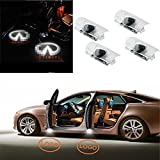 Bopan 4pcs Easy to install and high brightness Car door led Logo Projector Ghost Shadow laser Welcome lights for Infiniti FX M G QX EX