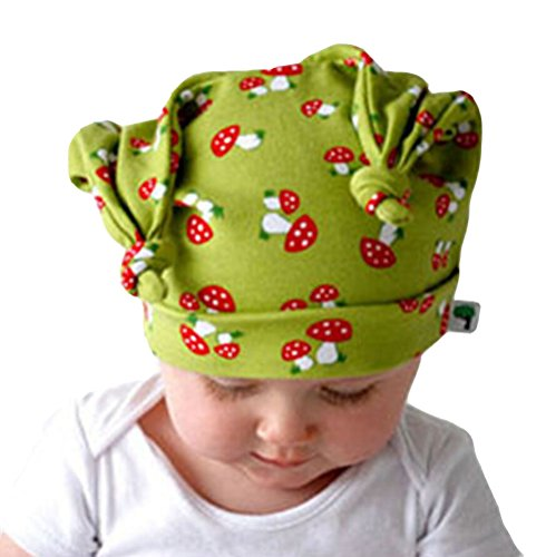 Yonger Newborn Cute Earflap Caps Headdress Mushrooms Elf Baby Hats for Boys (Mushroom Elf)
