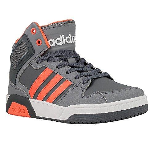 Adidas Bb9Tis Mid K, Scarpe da Basket Unisex – Bambini, Grigio (Onix/Narsol/Gris), 28 EU