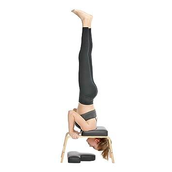 YYHOUS Yoga Inversion Banco Parada De Cabeza Prop Revés Presidente, por Los Hombros, Práctica Soporte De La Cabeza del Pino Banco Bandas/Resistencia Y ...