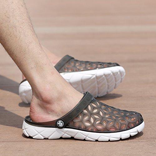 Xing Lin Flip Flop De La Playa Los Hombres Del Agujero De Verano Zapatos Zapatillas Calzado De Playa De Moda La Mitad Femenina Zapatillas Sandalias De Tamaño Grande De Parejas 235 black gray new
