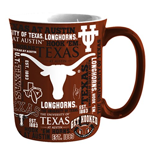 NCAA Texas Longhorns Sculpted Spirit Mug, 17-ounce