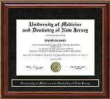 University of Medicine and Dentistry of New Jersey (UMDNJ) Diploma Frame - Mahogany