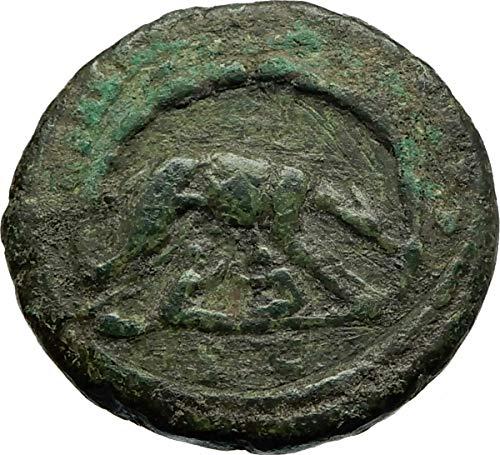 1000 IT MARCUS AURELIUS Authentic Ancient Rome WOLF CAVE coin Good