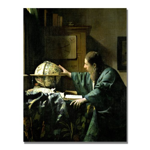 The Astronomer by Jan Vermeer, 18x24-Inch Canvas Wall Art