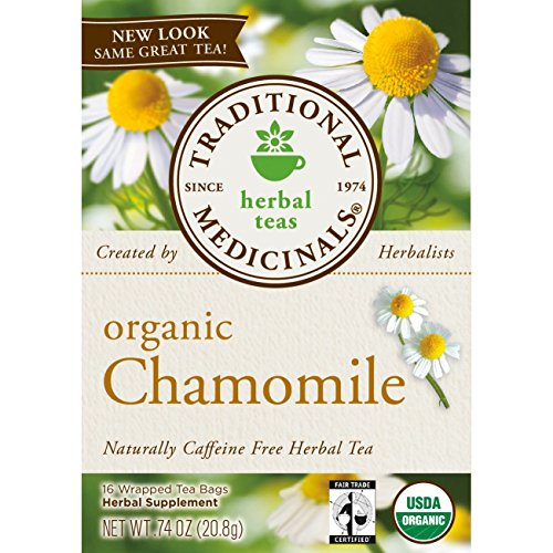 Traditional Medicinal's Organic Chamomile Tea, 16 Tea Bags per Box (Pack of 3 Boxes)