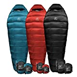 Outdoor Vitals Summit 20°F Down Sleeping Bag, 800 Fill, 3 Season, Mummy, Ultralight, Camping, Hiking (Blue, Regular)