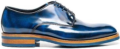 DIS Pertini Plain Derby Polished Blue
