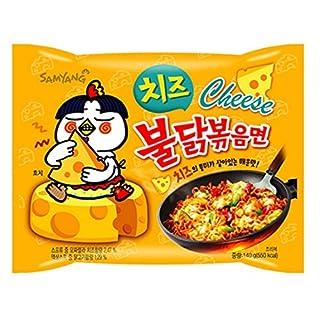 Samyang Buldak Chicken Stir Fried Ramen Korean Ramen (Cheese, 5 Pack)