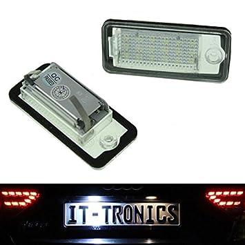 luz de matrícula LED para Audi A3 8P, A4 B6 + B7 A5 Cabrio, A6 4 F, Q7: Amazon.es: Coche y moto