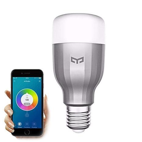 Xiaomi Yeelight - Bombilla Wi-Fi inteligente, 16 millones de colores, mando a