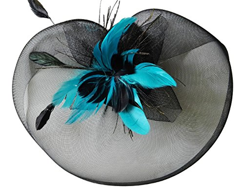 [Coolr Fascinator Hats Mini Top Hats Cocktail Party Bridal Hair Clip Headpieces] (Ganster Hat)