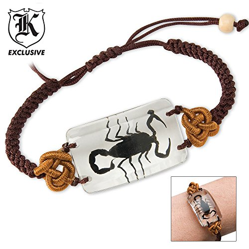 Real Scorpion Bracelet Clear Lucite (Lucite Pendant)
