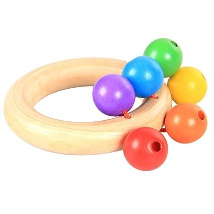 Yeahibaby 1 pieza de juguete educativo para bebé, juguete de mano para agarrar cascabeles de
