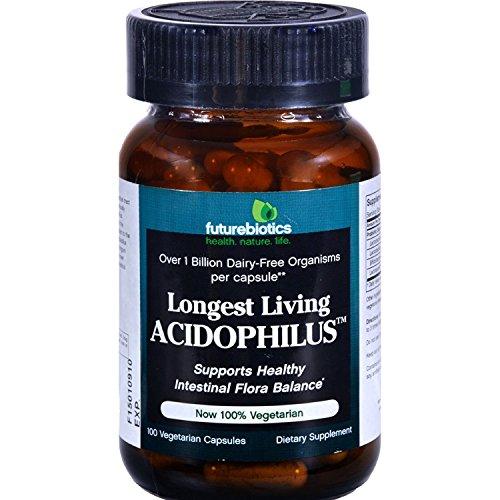 Caps 100 Living Longest - Futurebiotics Longest Living Acidophils 100 Cap