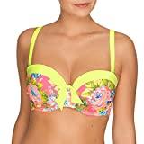 Prima Donna Pool Party Padded Strapless/Convertable Bikini Top, Yellow Sunshine, 40E