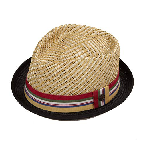 1023cbee33c3a7 Dasmarca Mens Summer Pork Pie Straw Hat - Nico Natural M