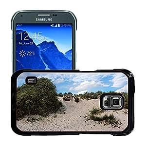 Just Phone Cases Etui Housse Coque de Protection Cover Rigide pour // M00421755 Duna Mar Báltico hierba de la duna // Samsung Galaxy S5 Active SM-G870A (Not Fit S5)