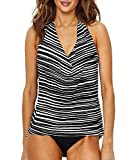 Magic Suit Magicsuit Clean Lines Sophie Tankini Top, 16, Black/White