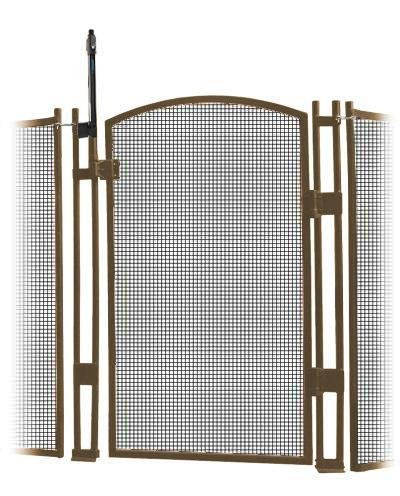 VisiGuard Self-Closing/Latching Pool Fence Child Safety Gate 4'' Tall (Tan) by Sentry Safety Pool Fence (Image #1)
