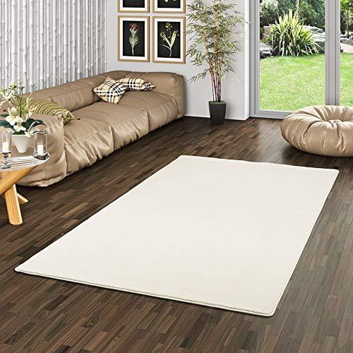 Snapstyle Hochflor Luxus Velours Teppich Touch Creme in 24 Größen