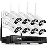 ZOSI 8 Channel 960p AUTO-PAIR WIRELESS SYSTEM 8CH 960P NVR with 8 x 1.3P 960P HD Wireless Security IP Camera System (Auto-Pair, Built-in Router, 1.3MP Camera, No hard disk)