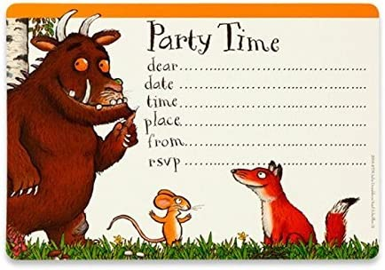 The Gruffalo Party Invitations & Envelopes x 10: Amazon.co.uk: Toys & Games