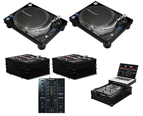 2x Pioneer PLX-1000 + DJM-350 + Black Label Cases + Glide St