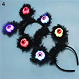 BrawljRORty Toys, Cute Star Sequin Antler Angel Eyes Luminous Light Up Hair Hoop Party Decoration
