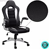 SKEMiDEX---Office Chair Ergonomic Computer PU Leather Desk Swivel Seat Race Car Game black And chair lifts restaurant chairs stacking chairs waiting room chairs office furniture chair mats for carpet