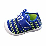7 month old tub - Hot Sale! Sneaker for Children,Toddler Baby Boys Girls Cartoon Squeaky Shoes,for 0-3 years old,Kids Lovely Prewalker Single Sneakers (21, Blue)