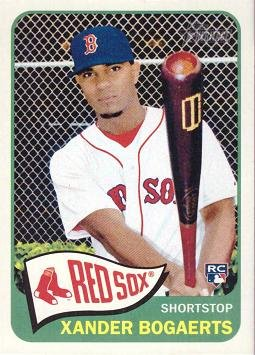 2014 Topps Heritage #H550 Xander Bogaerts Rookie Card - Near Mint to Mint
