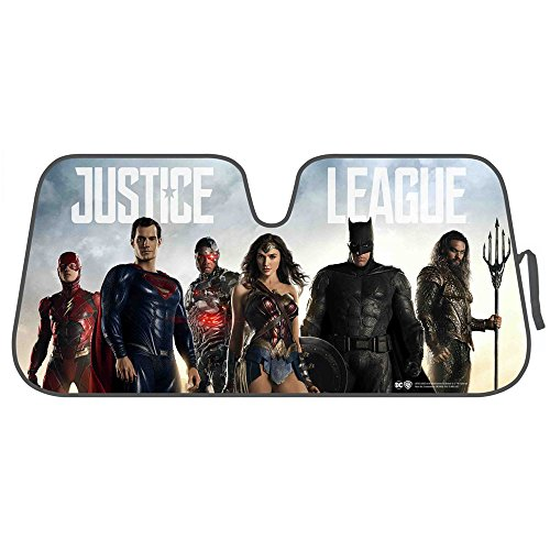 BDK DC Comics Justice League Windshield Sunshade for Car Truck SUV - Auto Sun Shade
