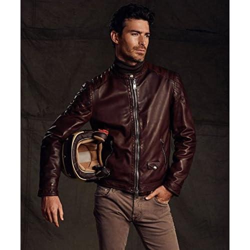 Hombres De Chaqueta Caliente Motorista Venta Delan La Leather AUcZcWB 14b21829baca