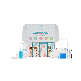 Large Health and Grooming Baby set by Fridababy   Big Bundle of Joy includes NoseFrida, Windi and other baby essentials for new parents