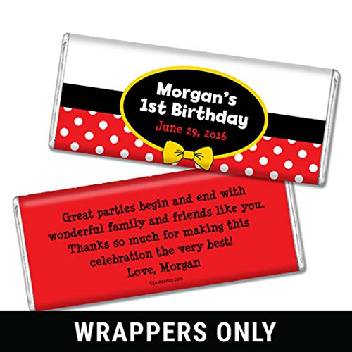 Mickey Mouse Candy Bar - Mickey Mouse Theme Birthday Party Favors His Mousey Birthday (25 Wrappers)