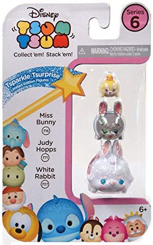 3-Pack Figures Disney Tsum Tsum Series 6 Miss Bunny//Judy Hopps//White Rabbit Tsparkle Tsurprise Limited Edition Figures Jakks