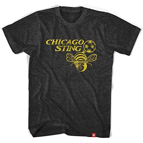 fan products of Chicago Sting Black Soccer T-shirt, Vintage Black, X Large