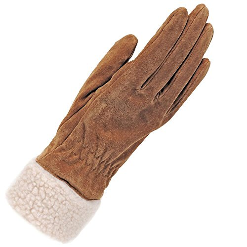 Wilsons Leather Womens Suede Glove W/Shearling Cuff M ()