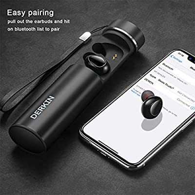 Wireless Earbuds, Derkin TWS X7 Best Bluetooth 5.0 Headphones 3D Stereo 16H Playtime Sweatproof Earphones Built-in Dual Mic,Noise Cancelling Wireless Headphones