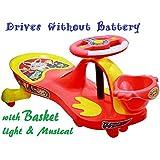 TruGood Baby Panda Free Wheel Musical Magic Swing Car