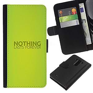 iBinBang / Flip Funda de Cuero Case Cover - NADA DURA PARA SIEMPRE - LG G3