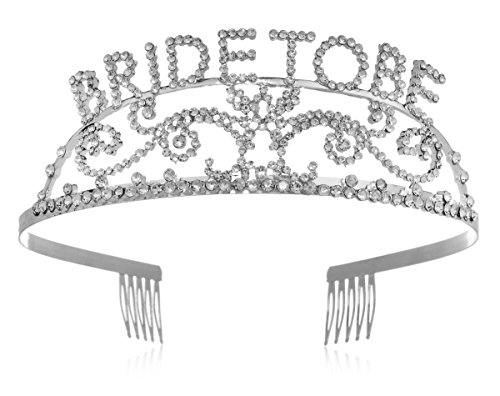 Elegant Rhinestone Bride to Be Tiara - Premium Quality Metal Bachelorette Party or Bridal Shower Accessory
