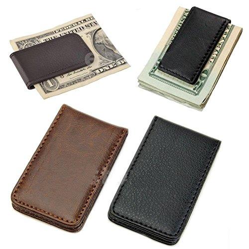New Leather Magnetic Slim Pocket Money Clip Holder Hot Sale ()