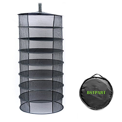 Herb Drying Rack Drying Net 2ft 8 Layer Black Mesh Hanging T